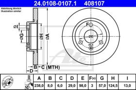 ATE 408107 - DISCO DE FRENO CITROEN AX (86-98)