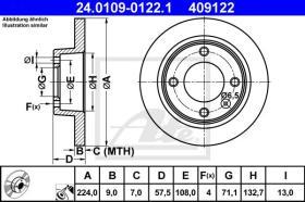 ATE 409122 - DISCO DE FRENO CITROEN XANTIA (X1)