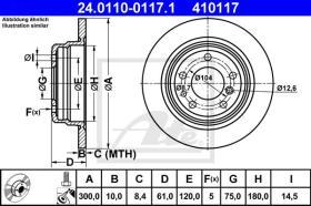ATE 410117 - DISCO DE FRENO BMW 5ER REIHE/E34 (8