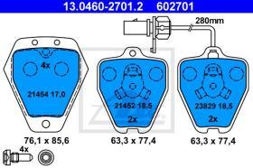 ATE 602701 - JGO. PASTILLAS AUDI A6 (C5) (97-05)