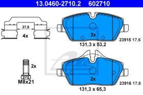 ATE 602710 - JGO. PASTILLAS BMW 1ER REIHE/E81/E8