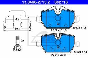 ATE 602713 - JGO. PASTILLAS BMW 1ER REIHE/E81/E8