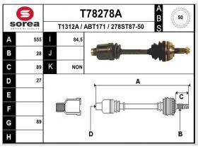 Transmisiones ABT171 - TRANSMISION DCHA. ROVER/HONDA
