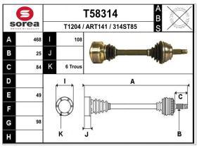 Transmisiones ART141 - TRANSMISION ALFA 156 2.4 JTD