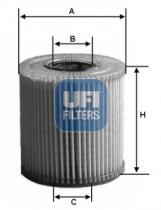 Filtros ufi 2501100 - FILTRO AUDI, SEAT, SKODA, VOLKSWAGE