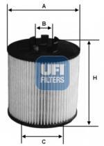 Filtros ufi 2501200 - FILTRO OPEL, VAUXHALL *