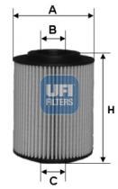 Filtros ufi 2502700 - FILTRO OPEL (GM), HONDA, VAUXHALL *