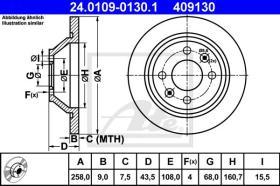 ATE 409130 - DISCO FRENO CLASSIC PKW SAAB 900 (7