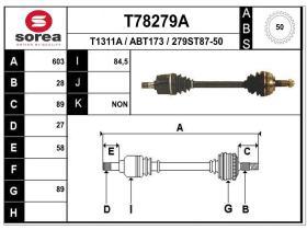 Transmisiones ABT173 - TRANSMISION IZQ. ROVER/HONDA