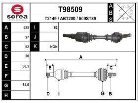 Transmisiones ABT200 - TRANSMISION IZQ.JAGUAR X-TYPE